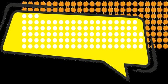 Sprechblase gelb